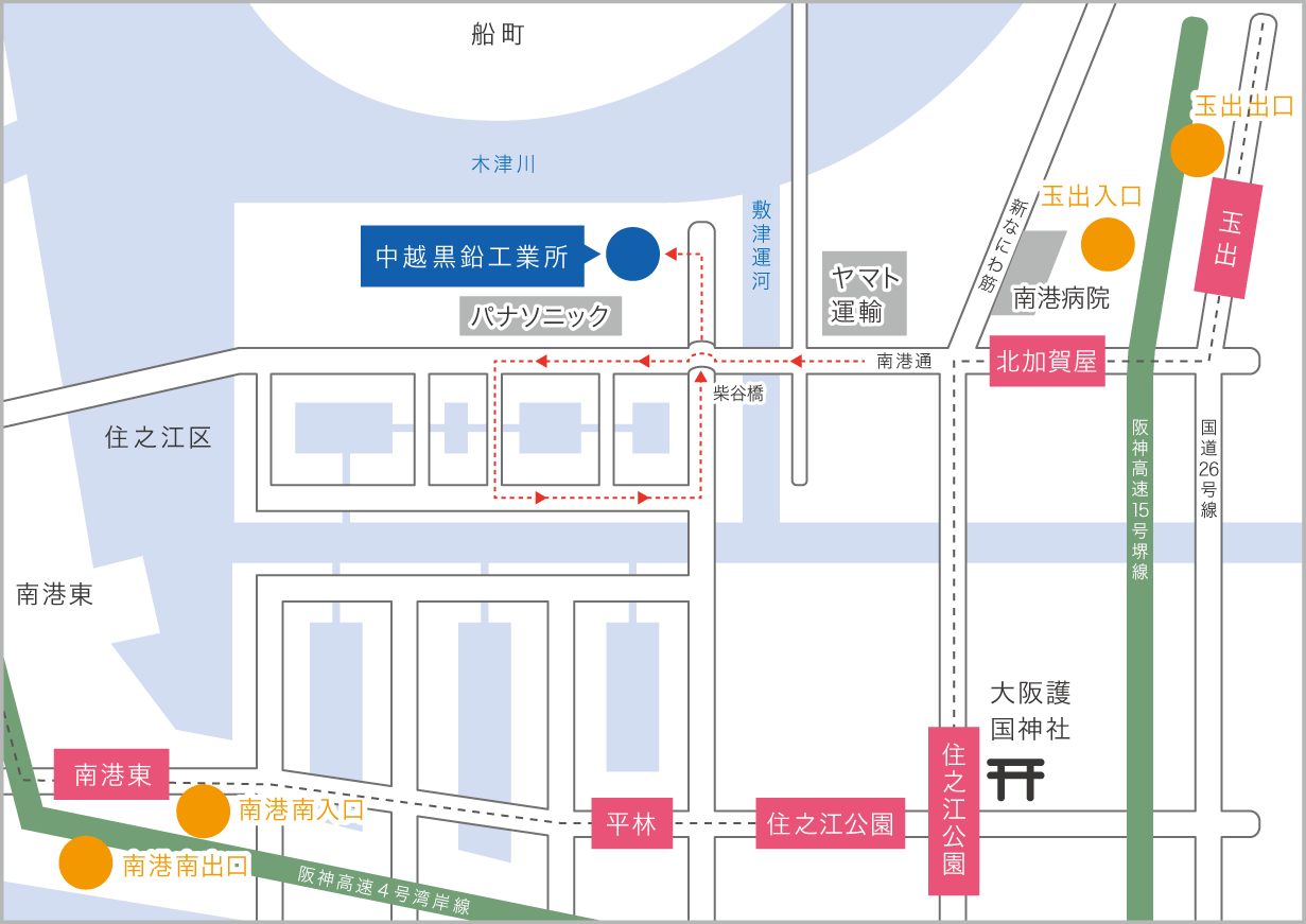 Chuetsu Graphite Works Co.,Ltd.  MAP